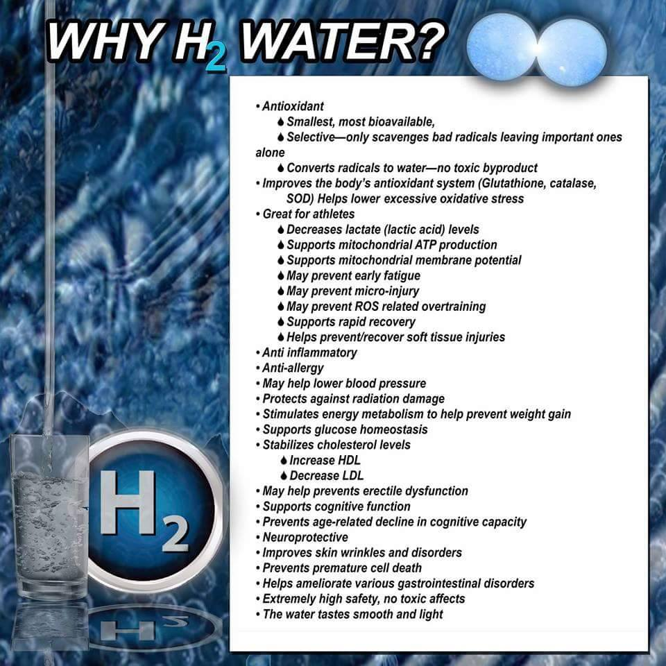 benefits of diatomic hydrogen water