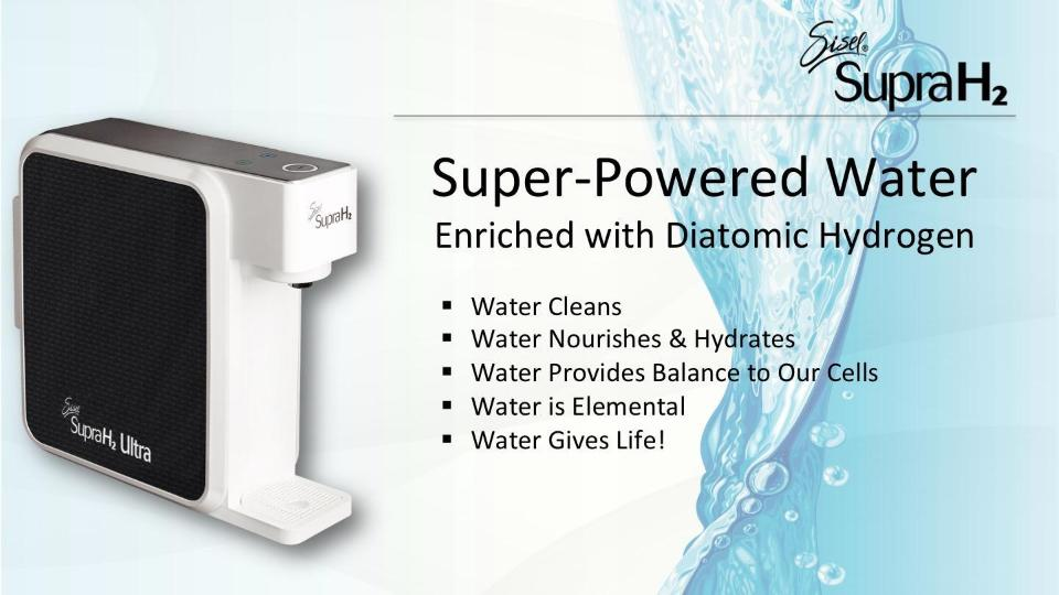 Hydrogen Water H2 Water Filter By Sisel International - Diatomic Hydrogen