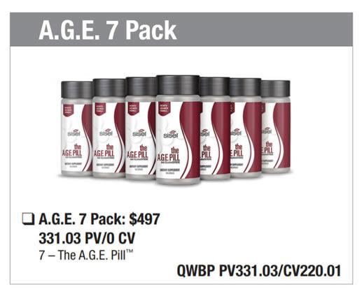 AGE Pill Wealth Pack 7 bottles