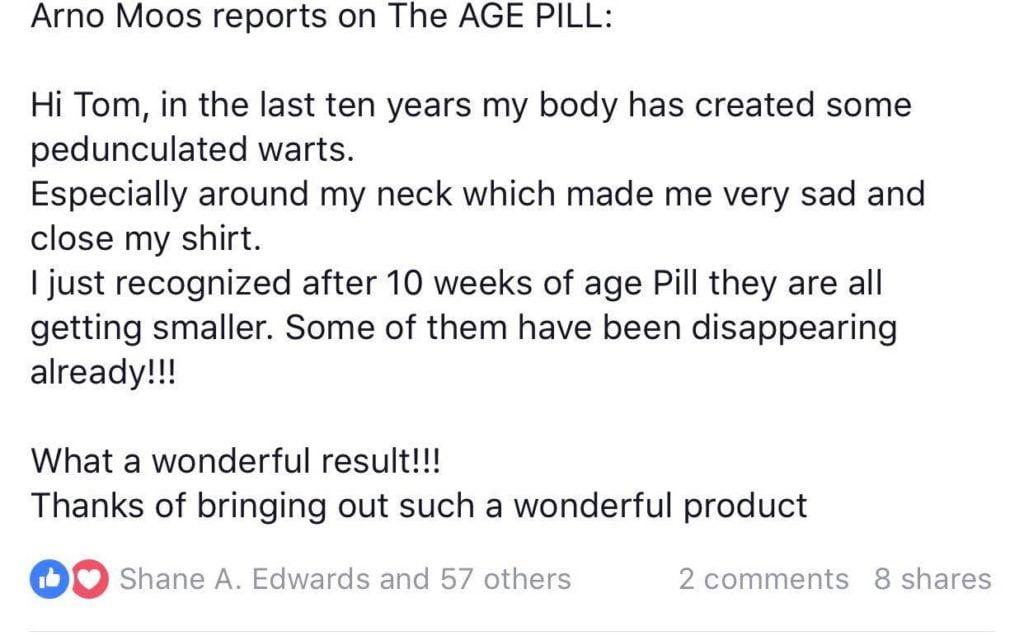 Warts disappearing Age Pill Testimonial Human