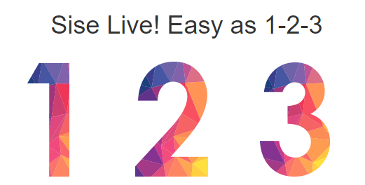 Sisel LIVE as easy as 1, 2, 4