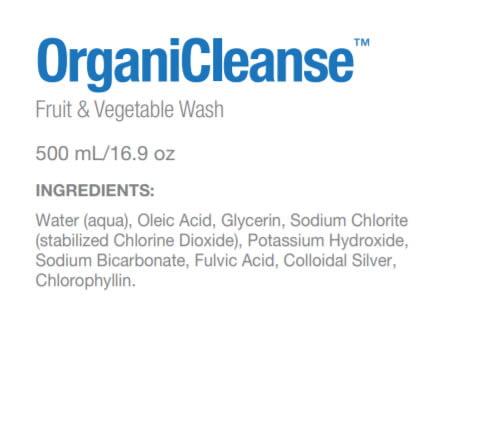 Sisel OrganiCleanse Ingredients Label