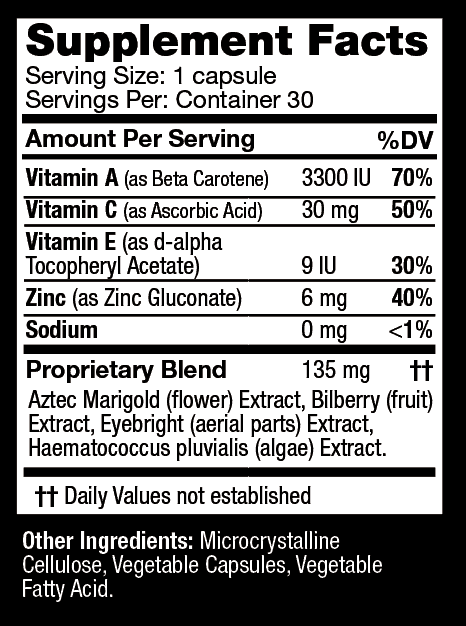 Sisel Vital Vision Ingredients