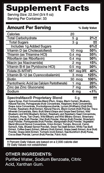 SpectraMaxx Ingredients