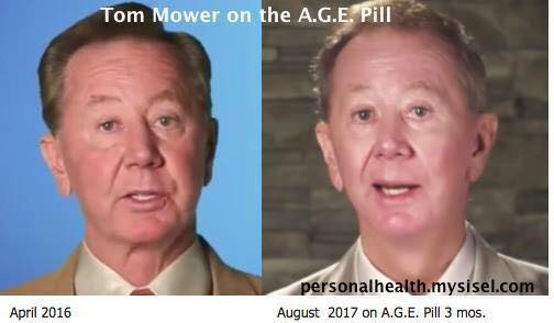 Tom Mower before and after the AGE Pill  - Testimonial for the A.G.E. Pill